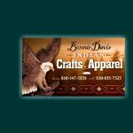Bonnie Davis Indian Crafts Business Card